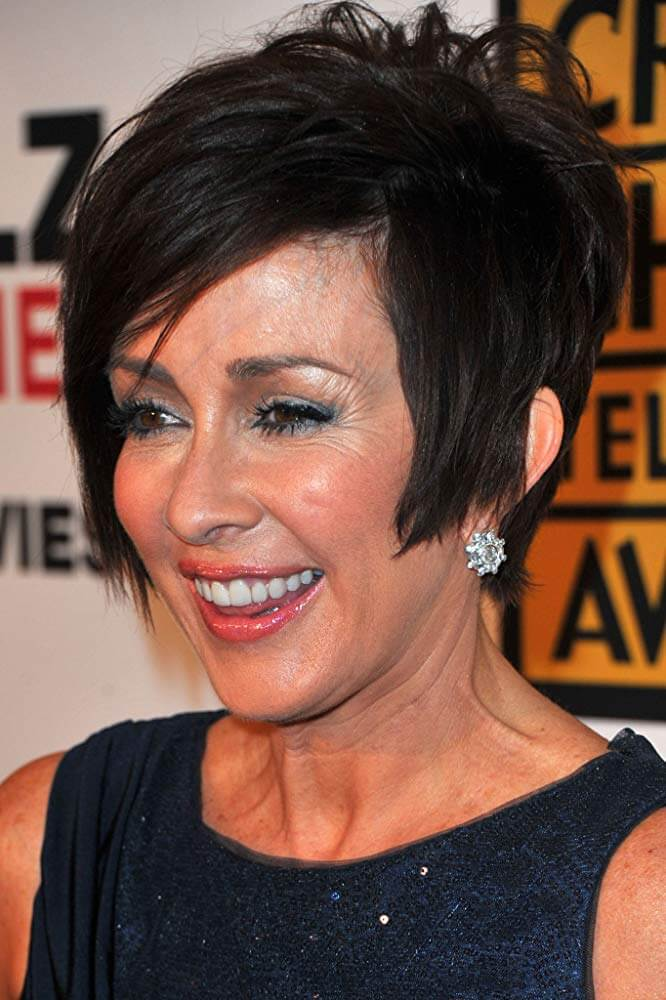 Short shag black hairstyle