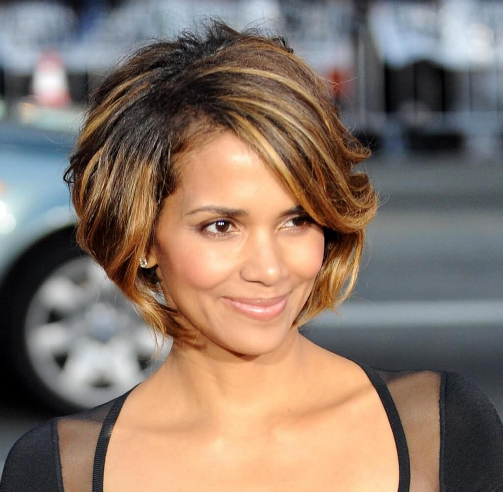 Trio-shade color look for short hair