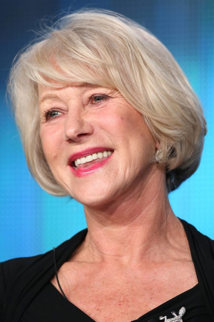 Helen Mirren Hairstyles for Women Over 50