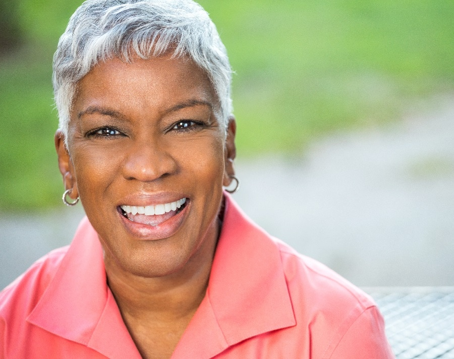 short hairstyle for african american women over 50