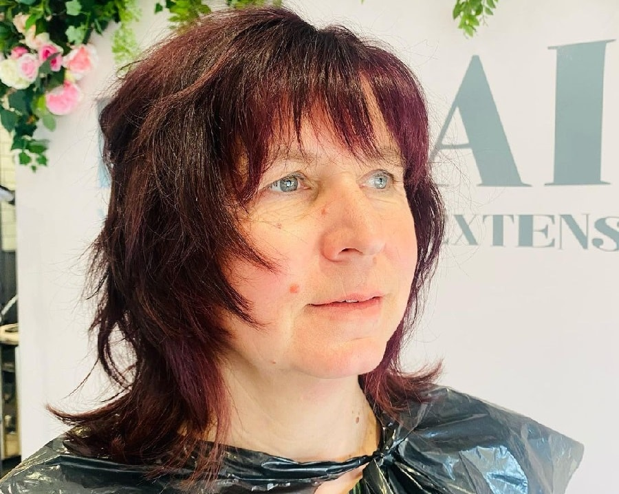 shaggy haircuts for women over 50