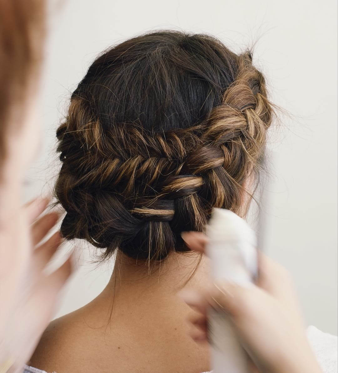 Braided Updo for Bridesmaid