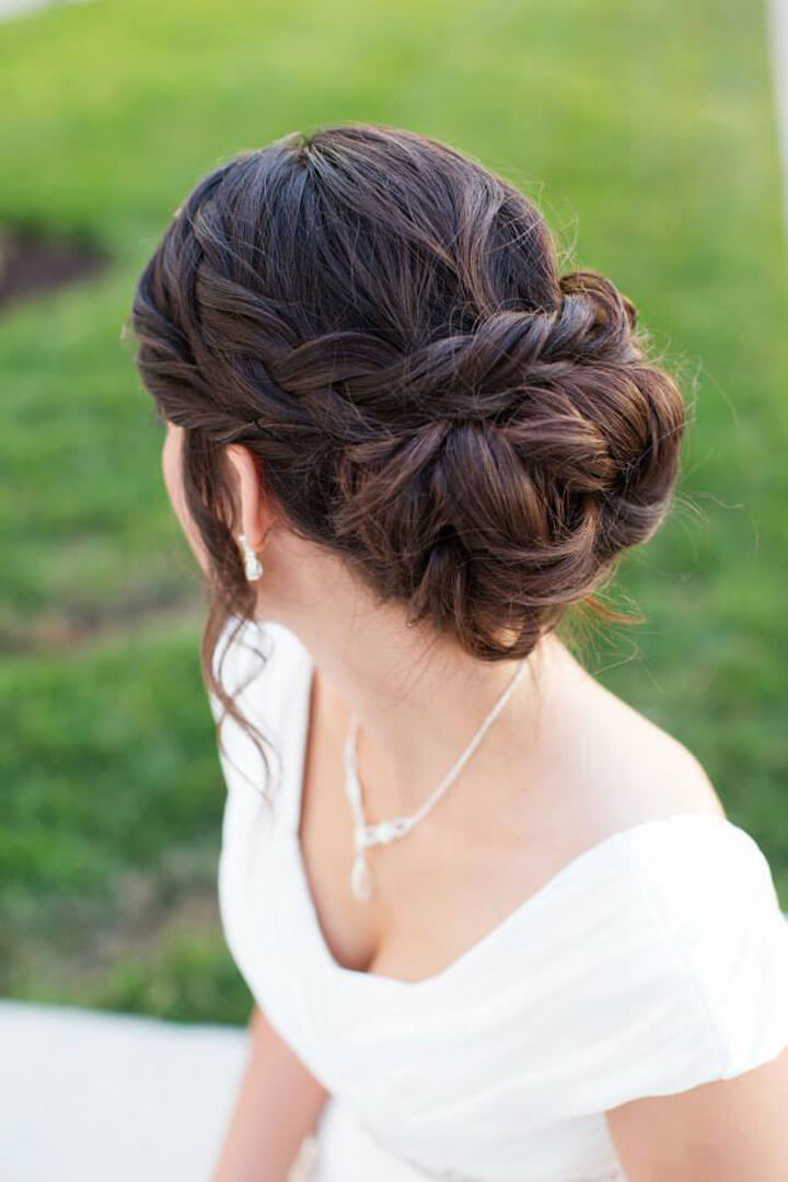 Braided Updo for Bridal
