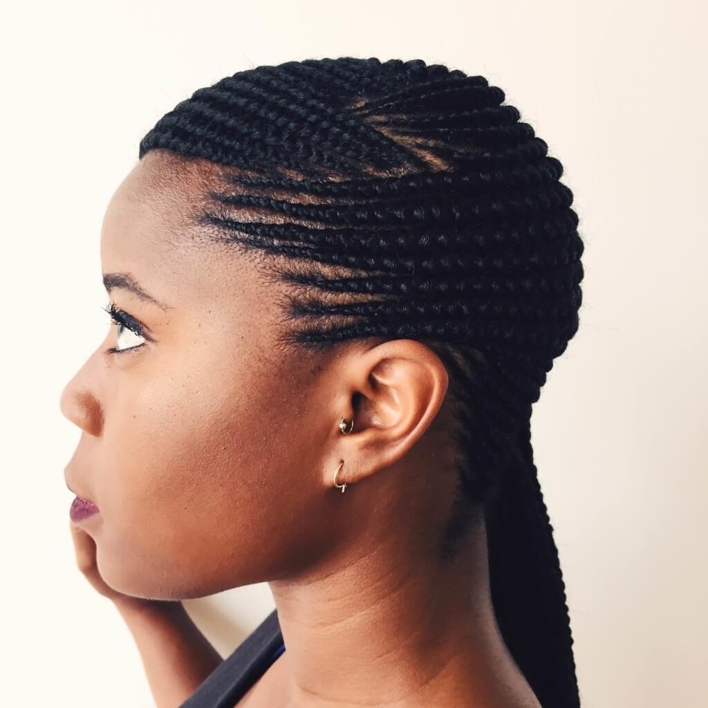Ghana Braids with Natural Hair