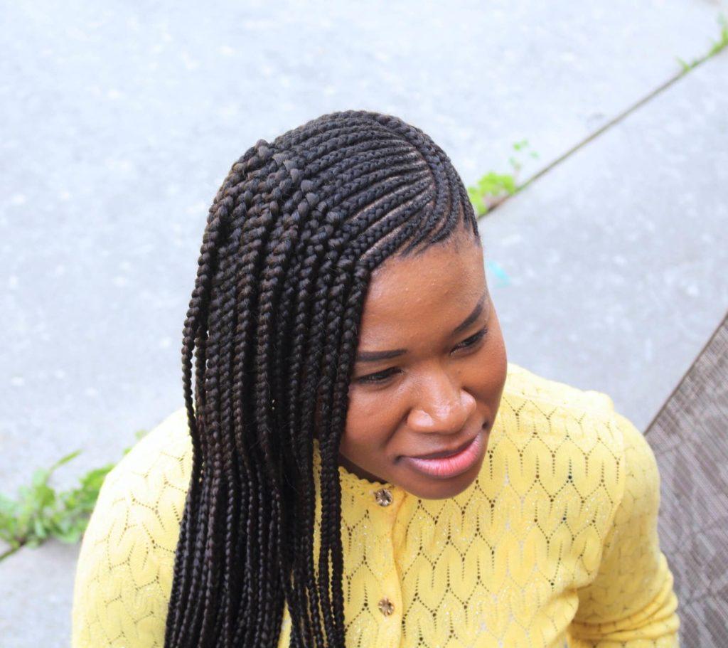 Side Swept Ghana Braids