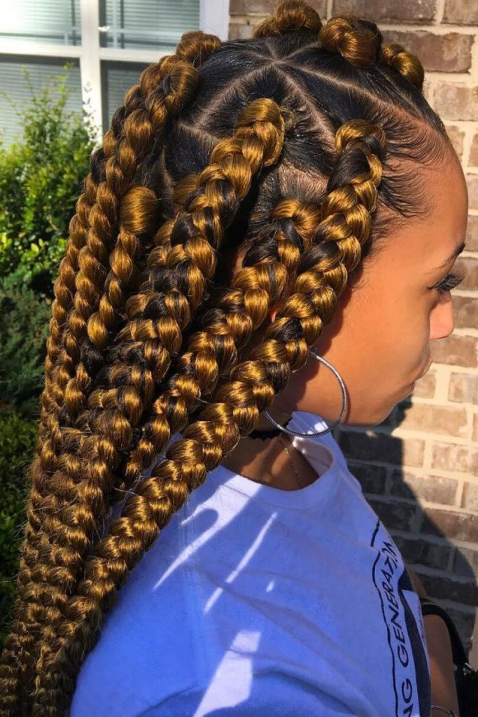 Big Braids Hairstyles - 27 Various Styles You Can Try for ...