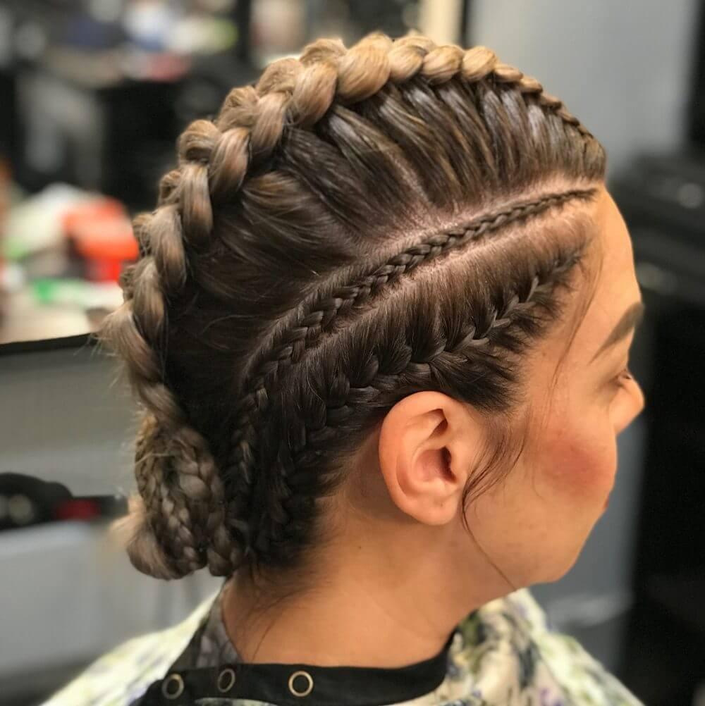 French Braid with Tiny Side Braid