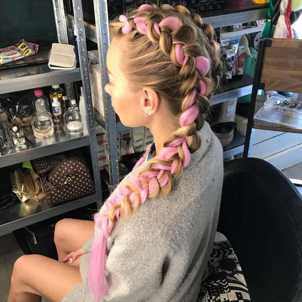 Two Toned French Braid
