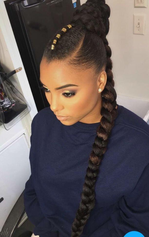 French Braid for Black Women