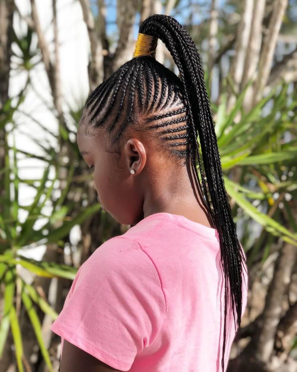 Ghana Braids with Ponytail
