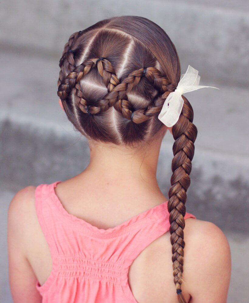 Criss Cross Braid with Side Ponytail