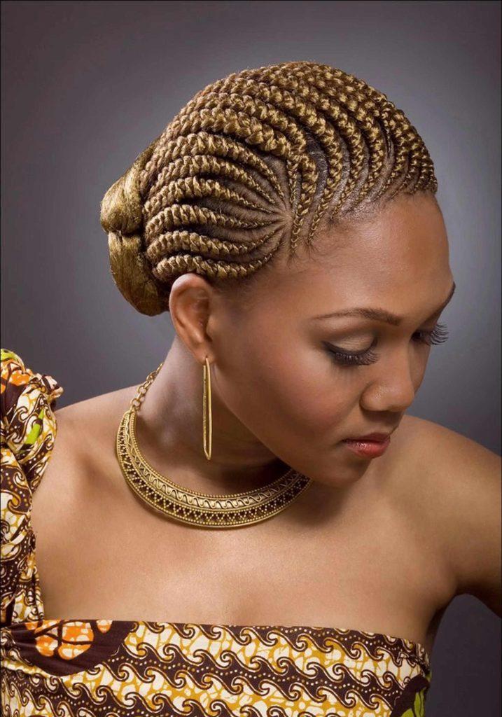 Ghana Braids with Bun