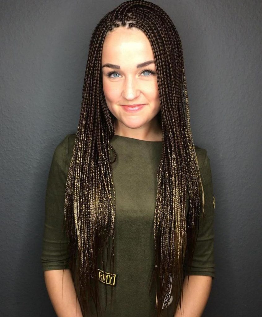 27 Stylish and Trendy Micro Braids Hairstyles