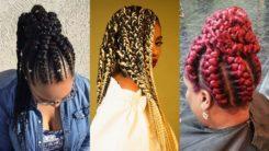 25 + Stunning Goddess Braids Hairstyles