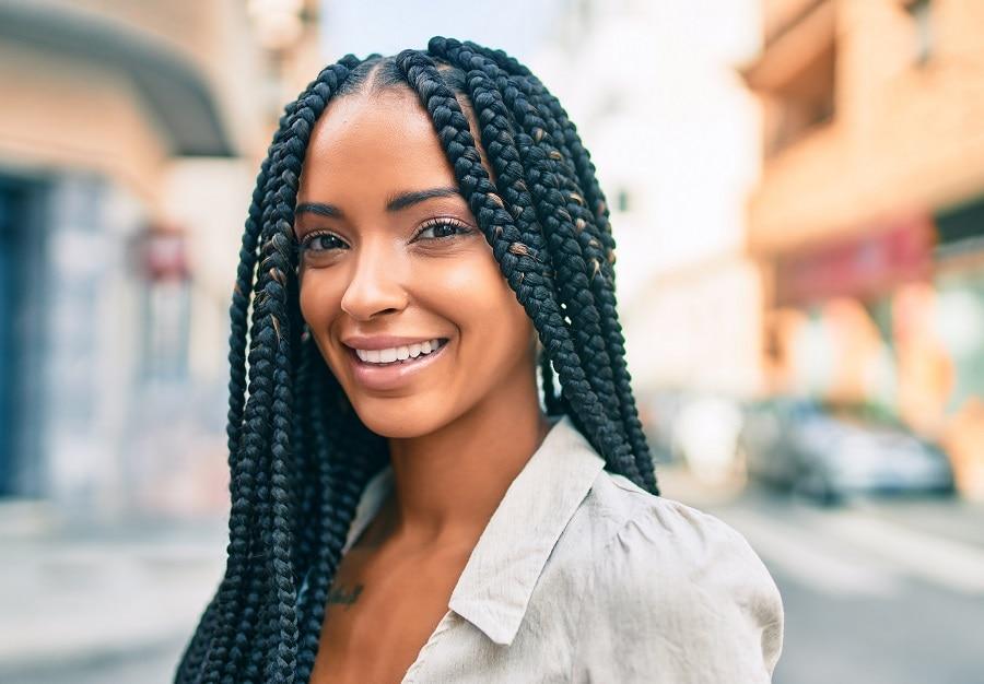 individual braids hairstyle