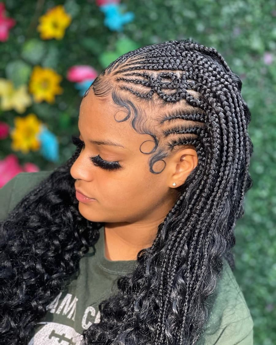 black woman with nigerian braids