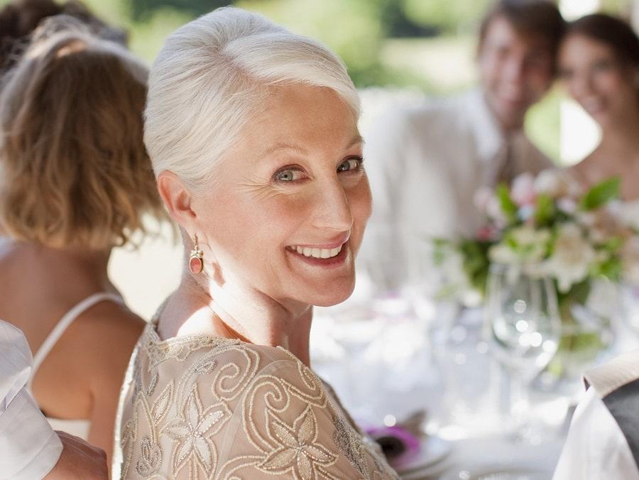 wedding updo for women over 50