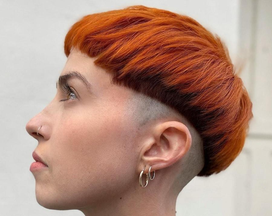 bowl haircut for short ginger hair