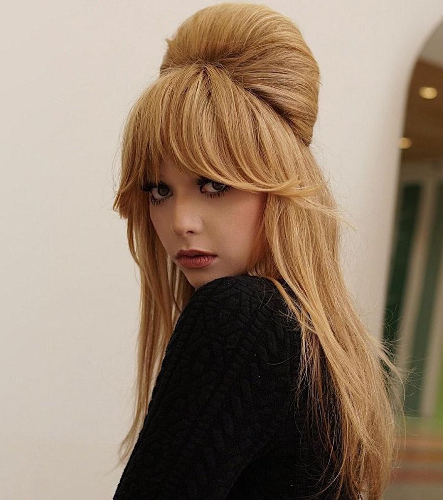 70 half up half down hairstyle