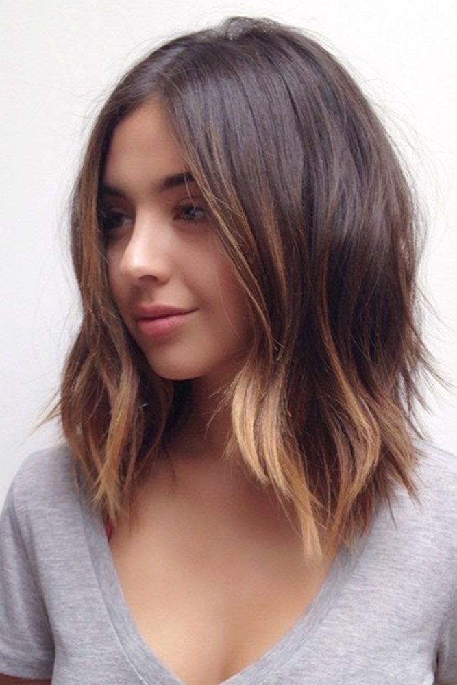 Brunette Medium Hairstyles