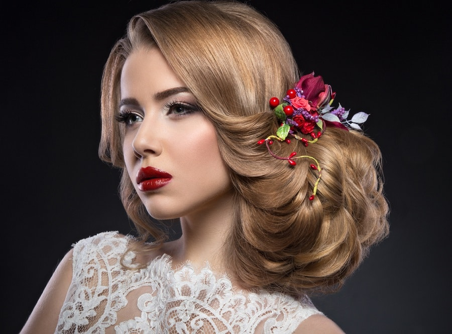 long thick hairstyle for wedding