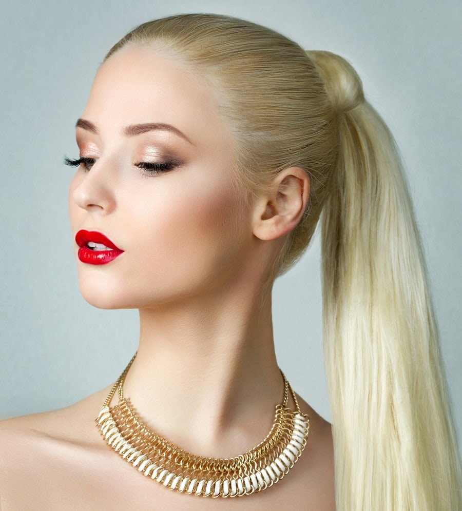long thick ponytail