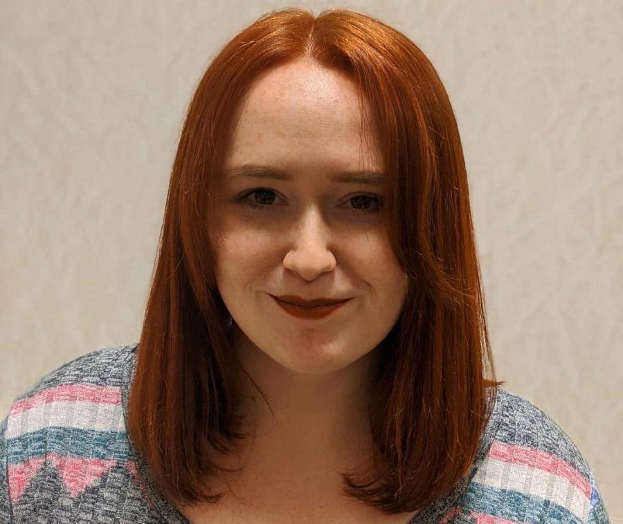 medium straight copper brown hair