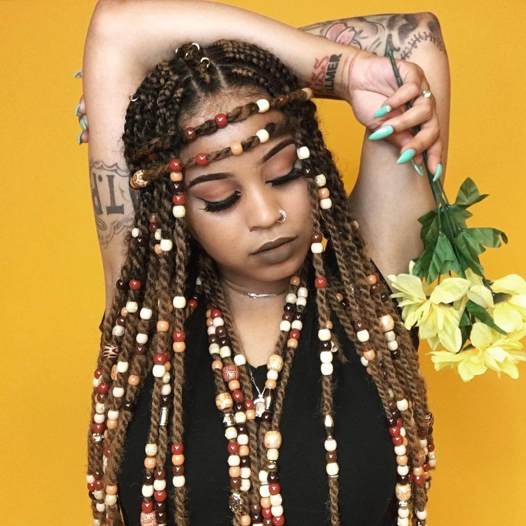 Braids with Inserts
