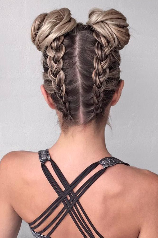 How to Create Braided Double Buns