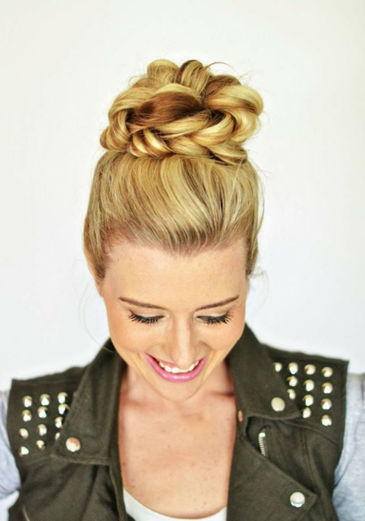 How to Create Braided Top Knot