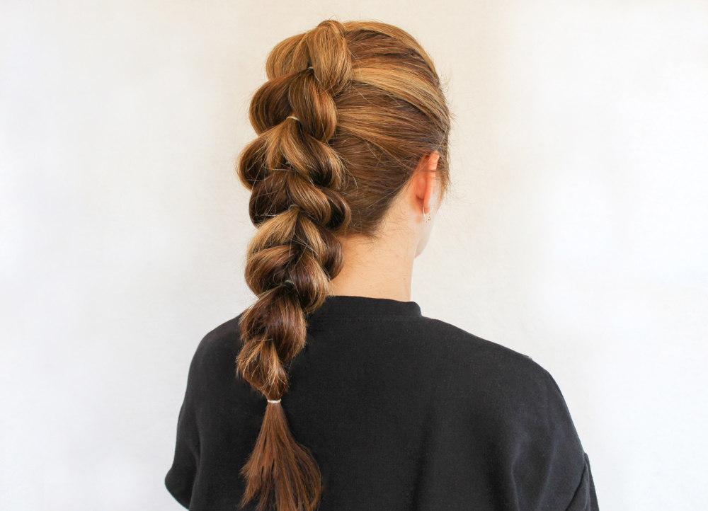 How to create Pull through Braided ponytail