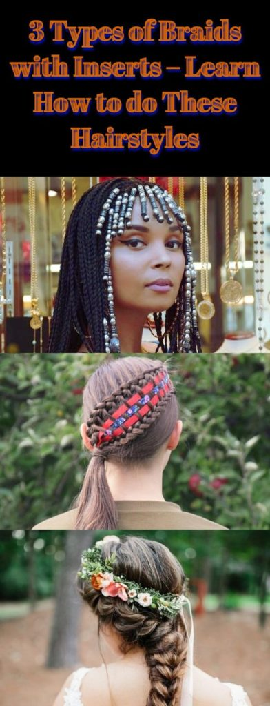 Types of Braids with Inserts