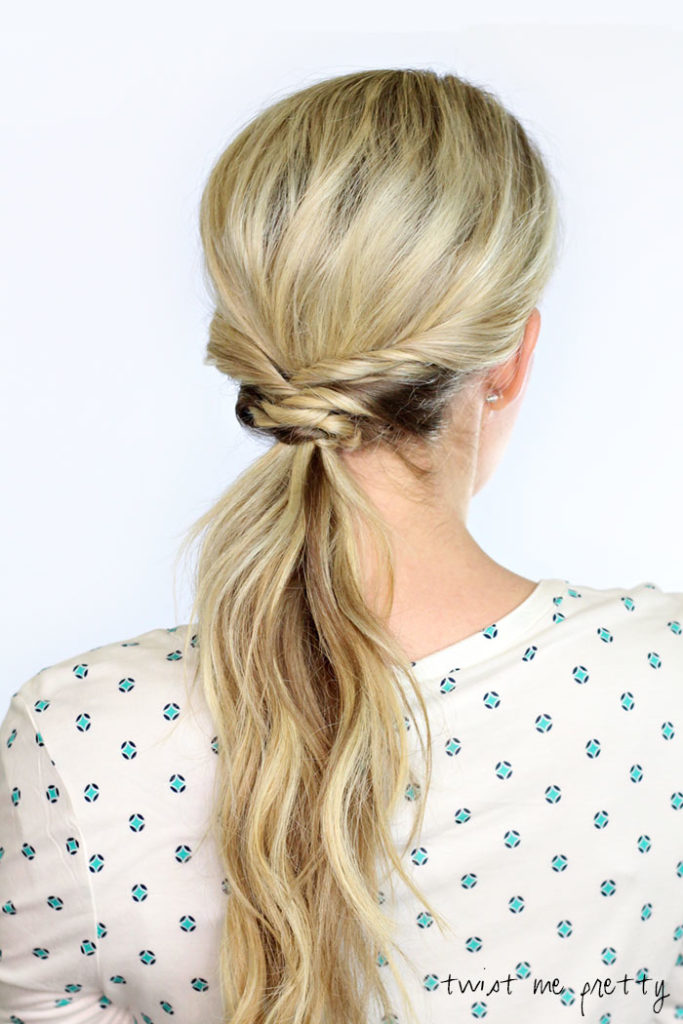 How to Create Woven Ponytail