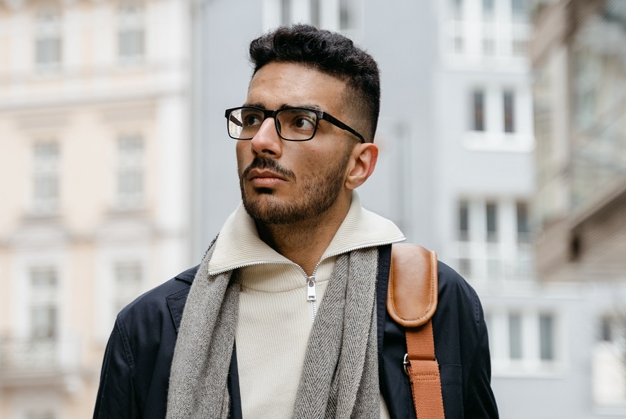 guy with short patchy beard