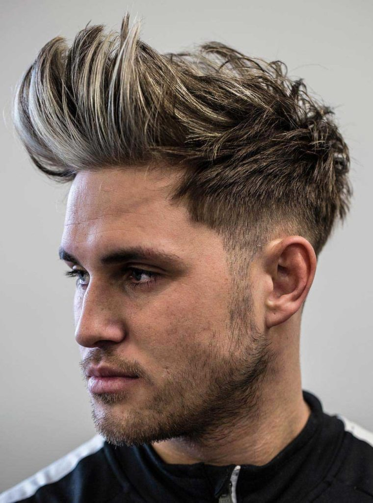 Hair Cutting Style Name - Faux Hawk