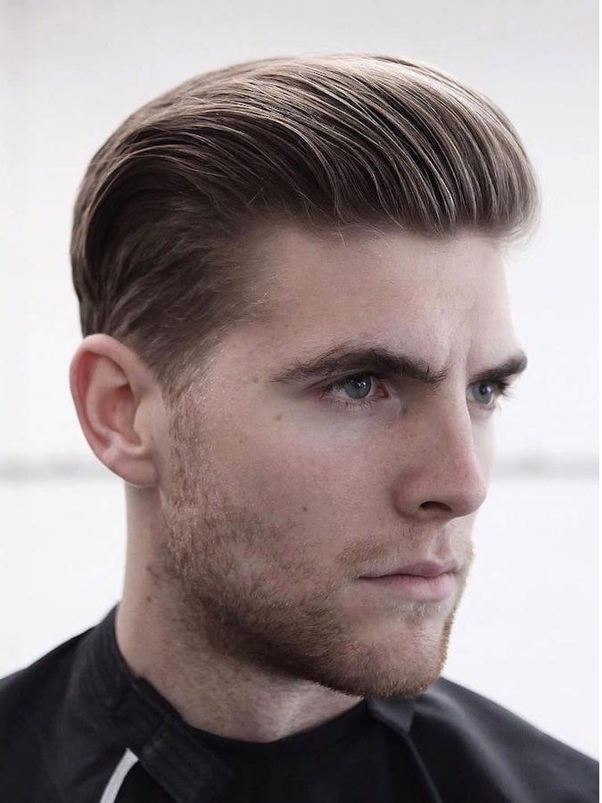 Hair Cutting Style Name - Slicked Back