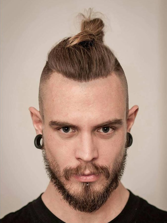 Hair Cutting Style Name - Top Knot