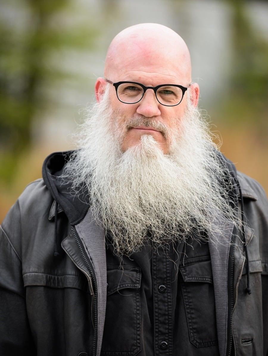 bald guy with long beard