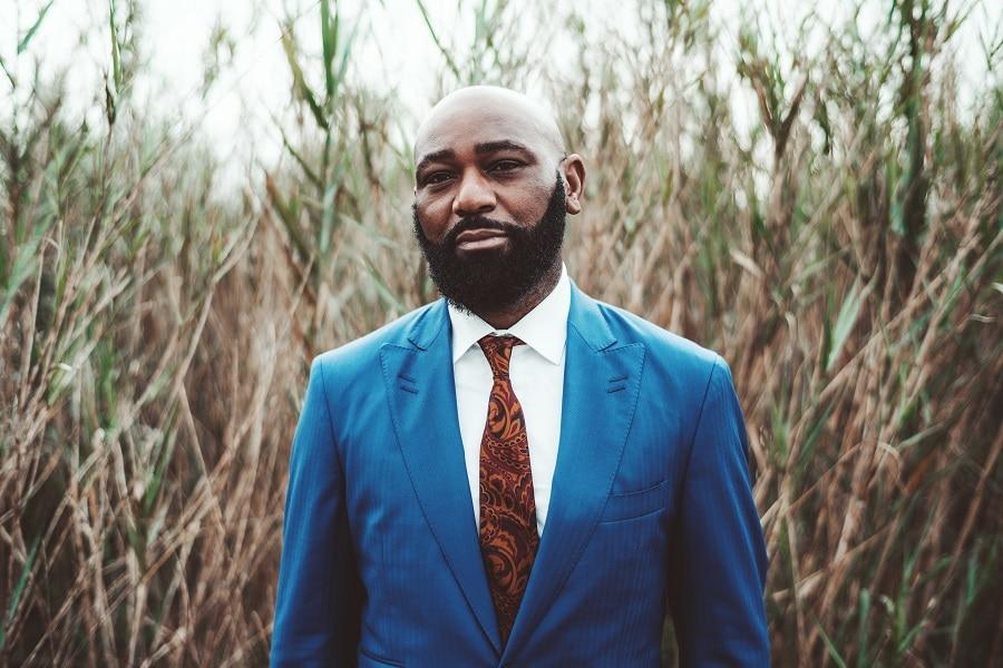 african bald guy with beard
