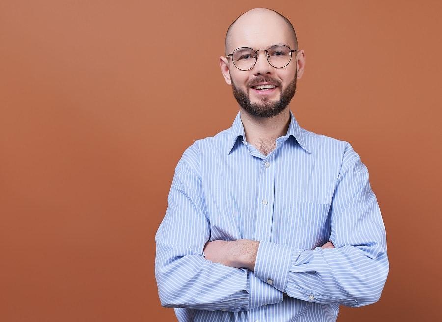 short beard styles for bald guys