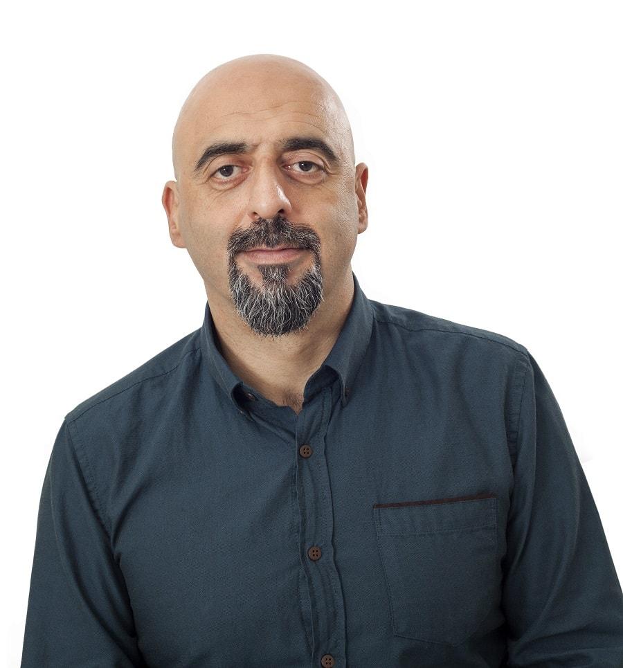 bald guy goatee beard