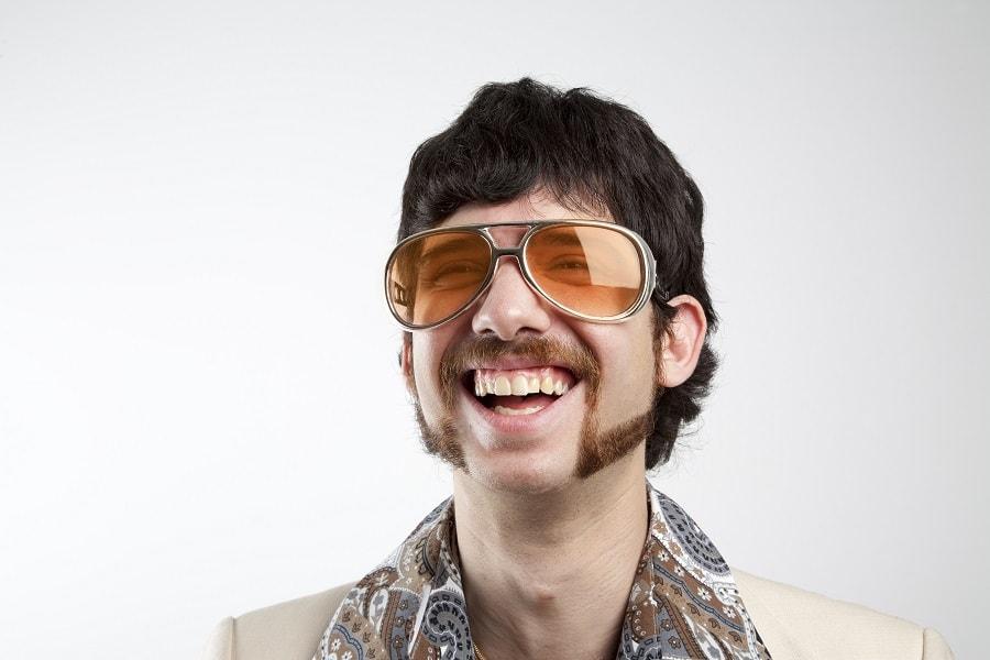 horseshoe mustache with short beard