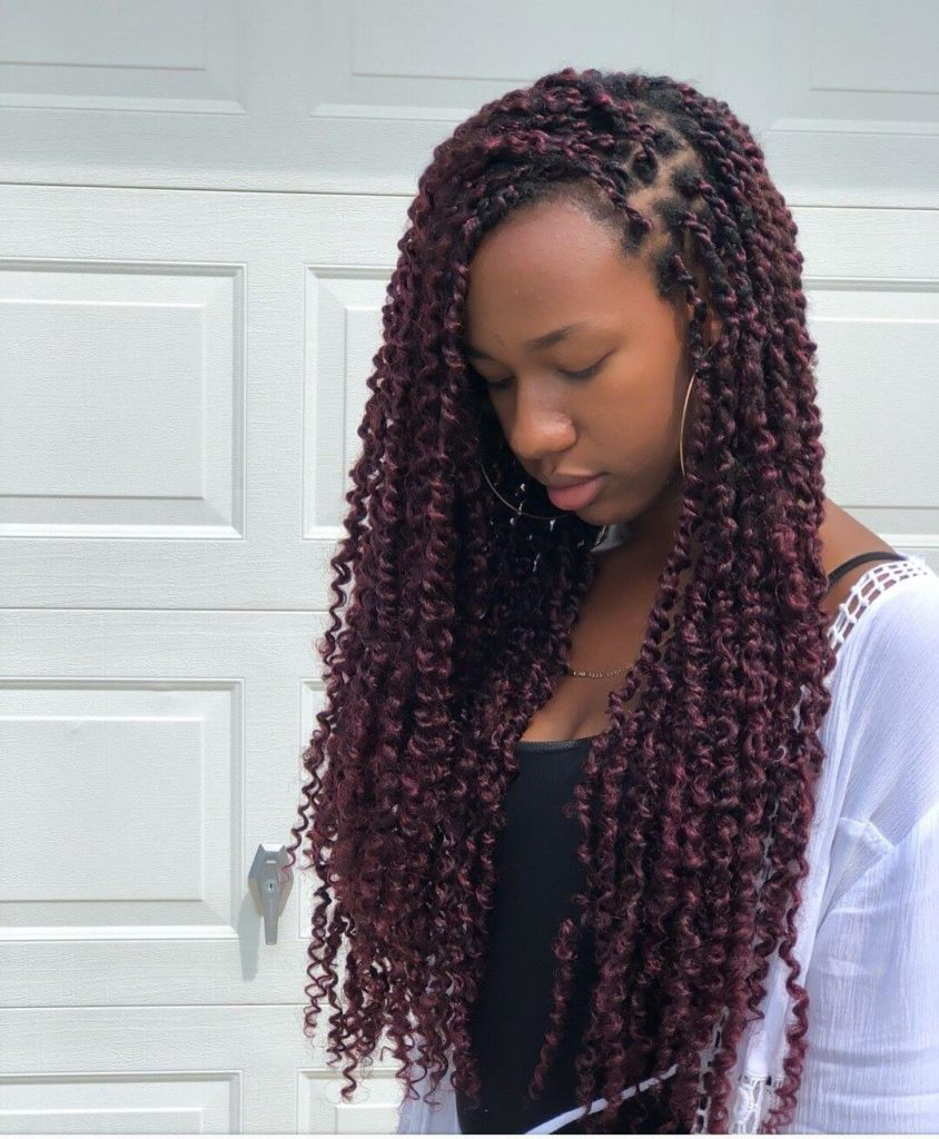 Passion Twists Braids Hairstyles