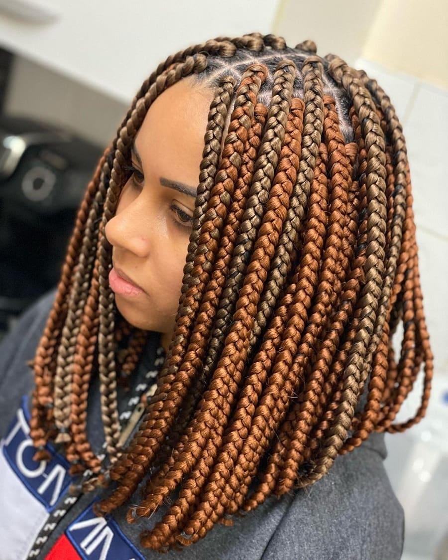 thick knotless box braids
