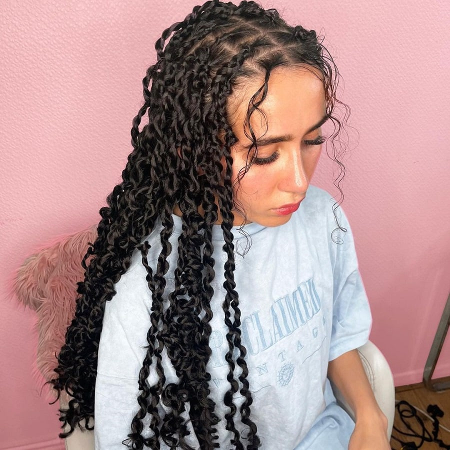 thin passion twist braids