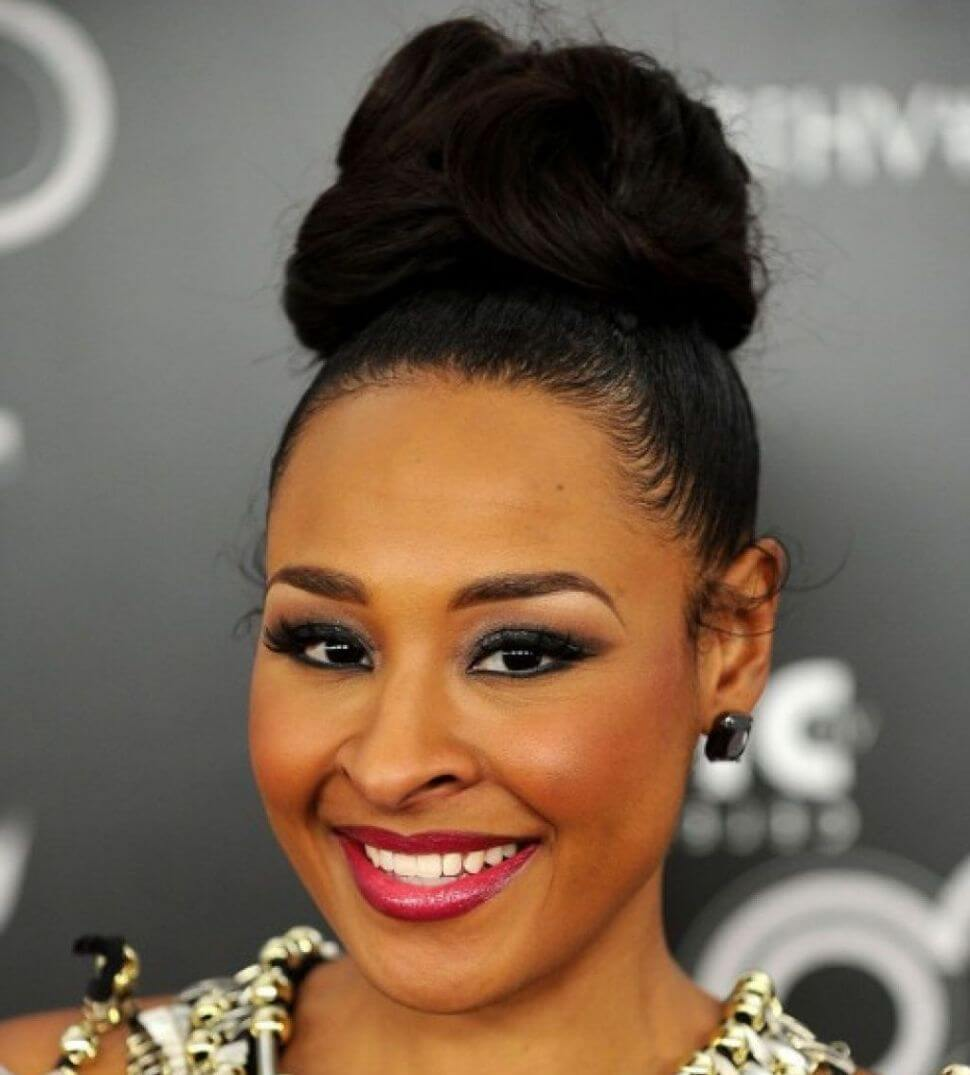 Updo Hairstyles With Bangs For Black Women 98