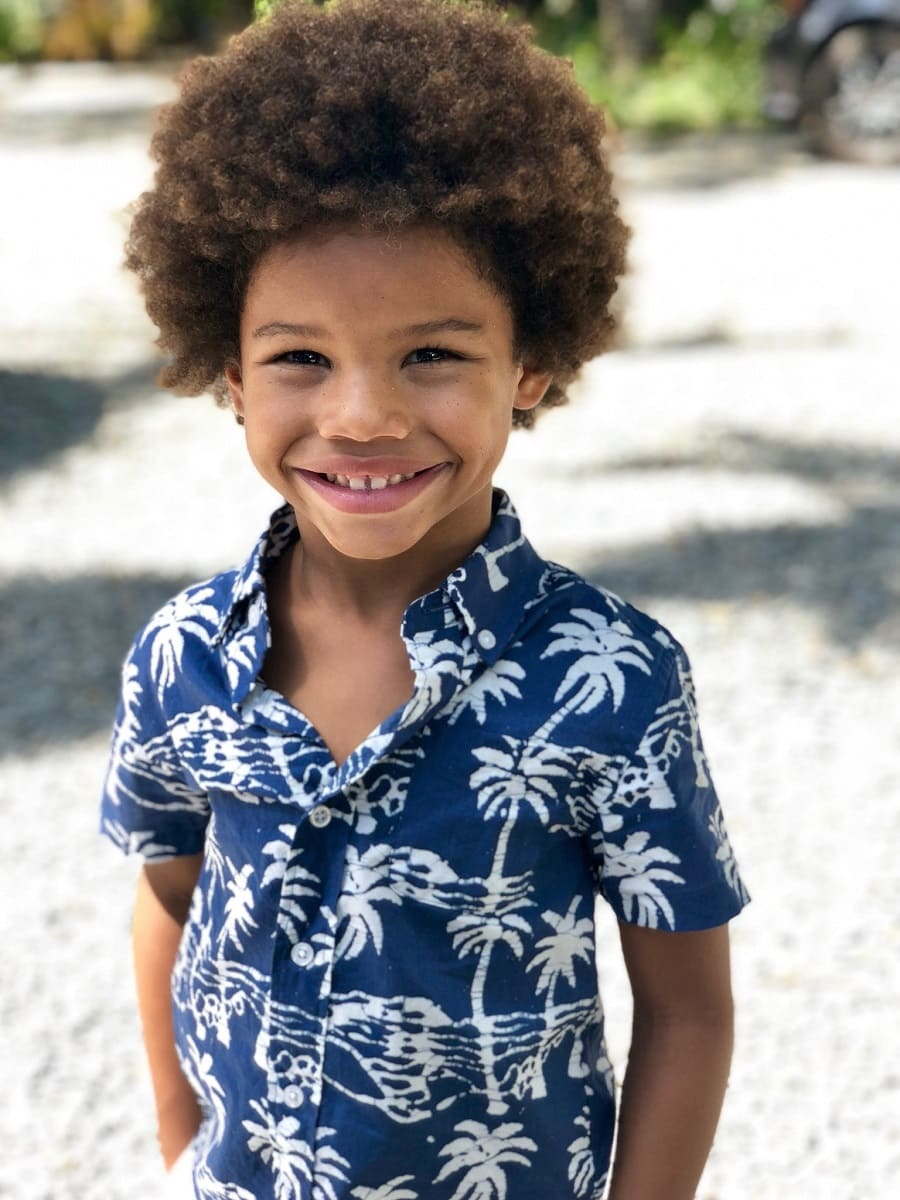 little black boy with afro hair