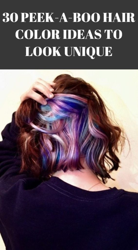 Peek A Boo Hair Color Ideas