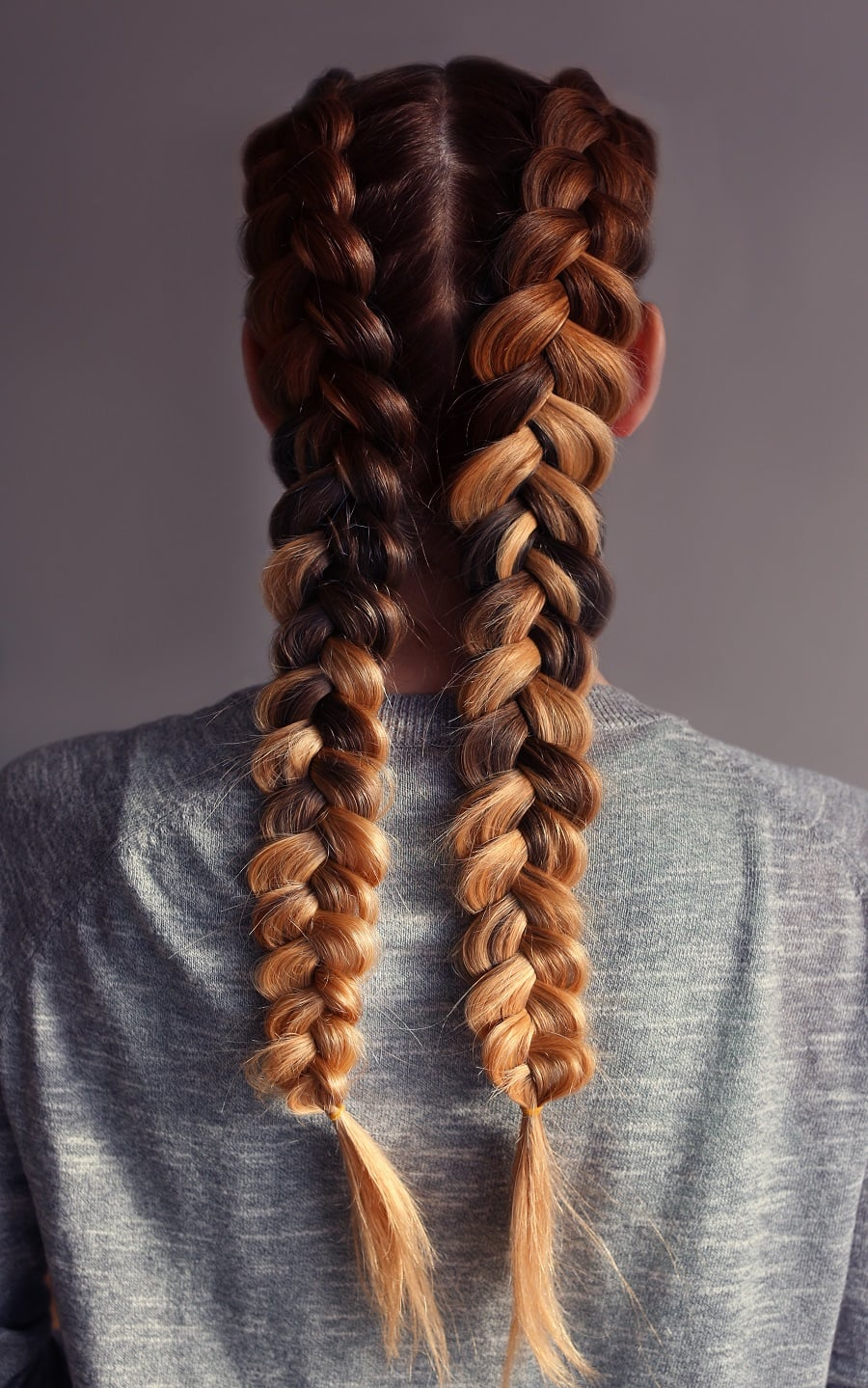 pull through boxer braids with highlights