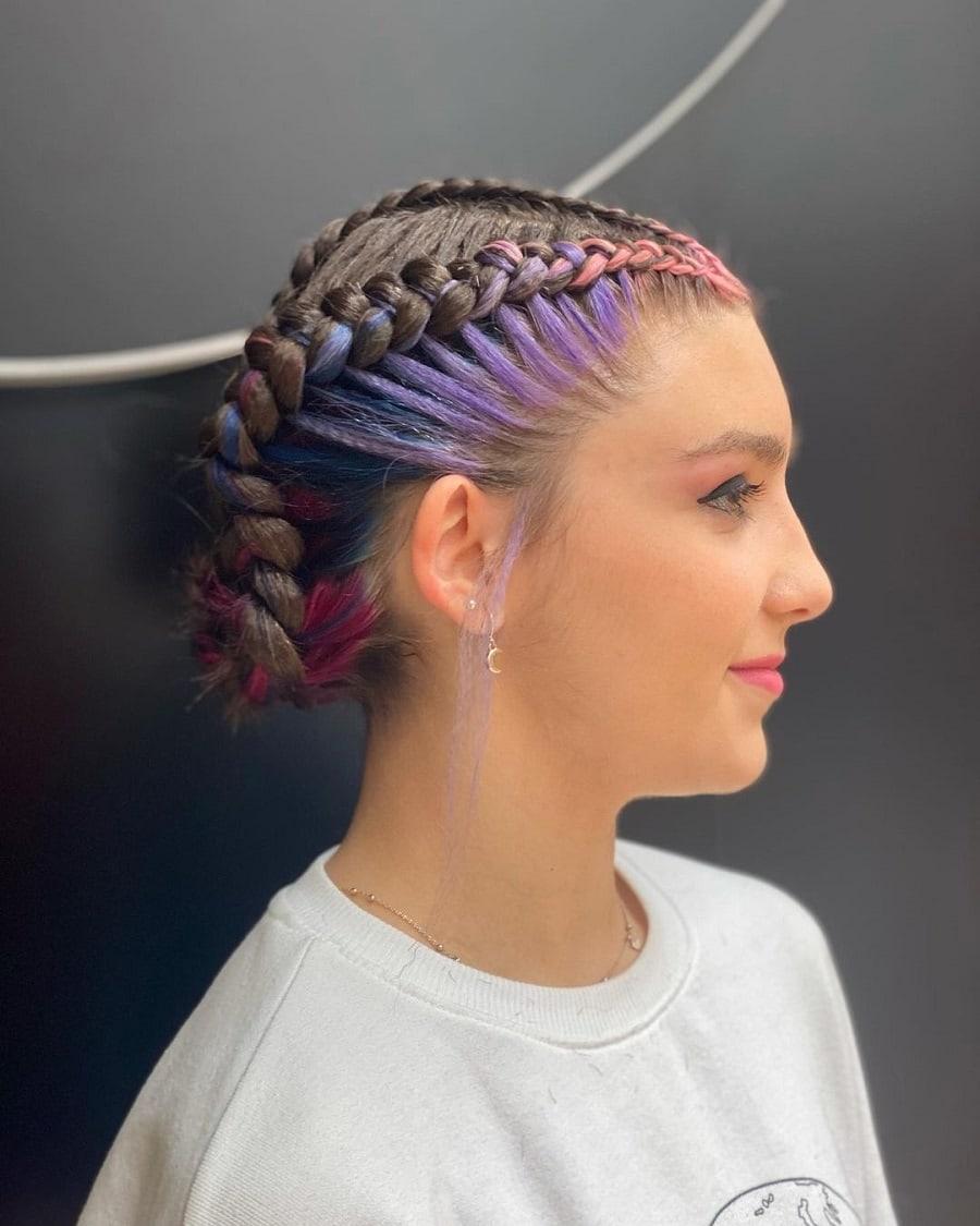 bun with boxer braids